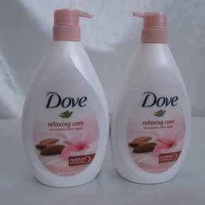 Dove Relaxing Care Body Wash Almond Cream 2 Bottle